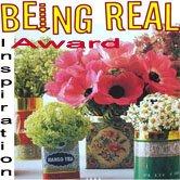 Being Real Inspiration Award — thanks Geli!