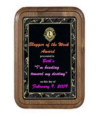 Blogger of the Week!
